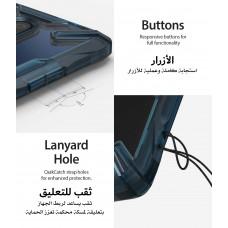 كفر ون بلس 7 تي برو OnePlus 7T Pro ماركة رينجكي Ringke صلب من الخلف وإطار مرن متين تصميم فيوجن إكس - ازرق شفاف