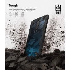 كفر ون بلس 7 تي برو OnePlus 7T Pro ماركة رينجكي Ringke صلب من الخلف وإطار مرن متين تصميم فيوجن إكس - اسود جيشي