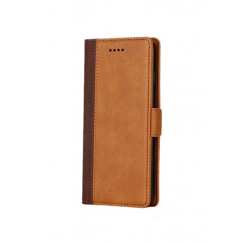 جراب شاومي بوكوفون اف 1 Xiaomi Pocophone F1 محفظة جلد مع مكان للبطاقات وستاند - بني