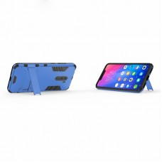 كفر شاومي بوكوفون اف 1 Xiaomi Pocophone F1 كفر متين بغطاء خلفي صلب مع ستاند - اسود وازرق