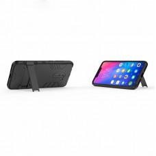 كفر شاومي بوكوفون اف 1 Xiaomi Pocophone F1 كفر متين بغطاء خلفي صلب مع ستاند - اسود