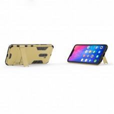 كفر شاومي بوكوفون اف 1 Xiaomi Pocophone F1 كفر متين بغطاء خلفي صلب مع ستاند - اسود وذهبي