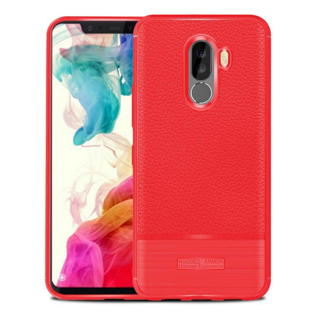 كفر شاومي بوكوفون اف 1 Xiaomi Pocophone F1 مرن بالكامل - احمر