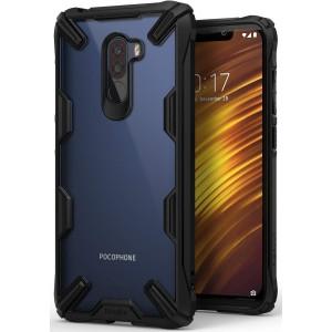 كفر شاومي بوكوفون اف 1 Xiaomi Pocophone F1 ماركة رينجكي Ringke صلب من الخلف وإطار مرن متين - اسود