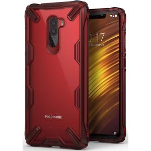 كفر شاومي بوكوفون اف 1 Xiaomi Pocophone F1 ماركة رينجكي Ringke صلب من الخلف وإطار مرن متين - عنابي شفاف