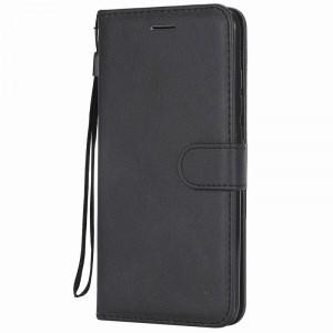 جراب شاومي ريدمي نوت 6 برو Redmi Note 6 Pro محفظة جلد مع مكان للبطاقات وستاند - اسود
