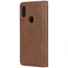 جراب شاومي ريدمي نوت 6 برو Redmi Note 6 Pro محفظة جلد مع مكان للبطاقات وستاند - بني