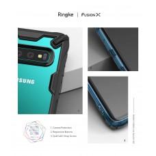 كفر جالكسي اس 10 Galaxy S10 ماركة رينجكي Ringke صلب من الخلف وإطار مرن متين - اسود