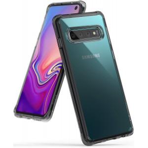 كفر جالكسي اس 10 Galaxy S10 ماركة رينجكي Ringke صلب من الخلف وإطار مرن - رمادي شفاف