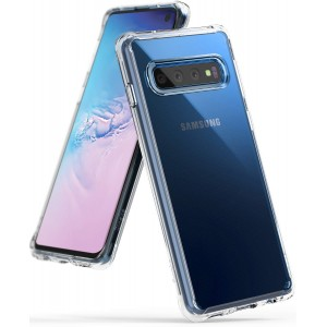 كفر جالكسي اس 10 Galaxy S10 ماركة رينجكي Ringke صلب من الخلف وإطار مرن - شفاف