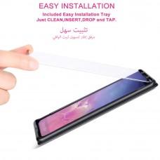 واقي شاشه زجاجي -استكر زجاج- جالكسي اس 10 Galaxy S10 ماركة آي اندر iAnder وضوح عالي مقاوم التبقع - لون الحواف اسود