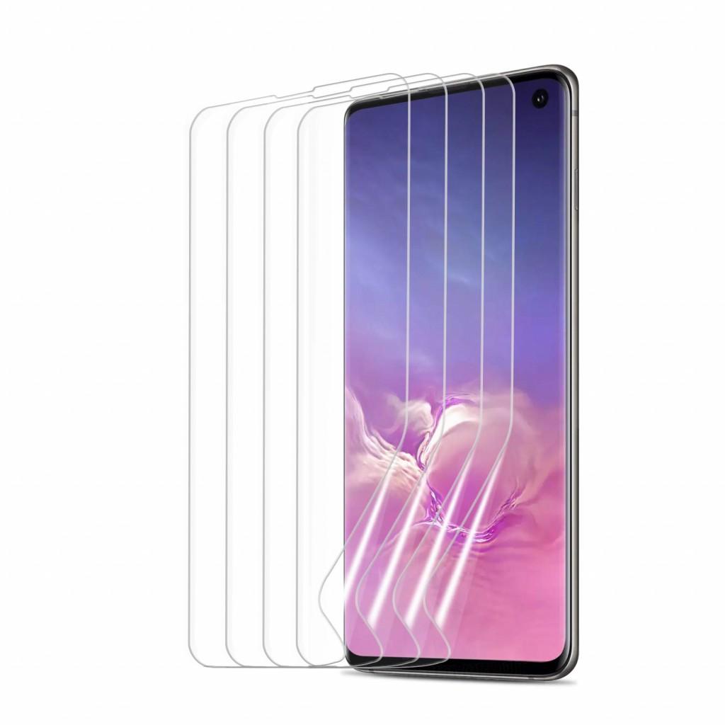 واقي شاشه زجاجي -استكر زجاج- جالكسي اس 10 Galaxy S10 ماركة أوموتون OMOTON وضوح عالي مقاوم التبقع - 4 حبات