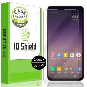 واقي شاشه -استكر- جالكسي اس 10 إي Galaxy S10e ماركة آي كيو شيلد IQ Shield وضوح عالي مقاوم التبقع - 2 حبتين