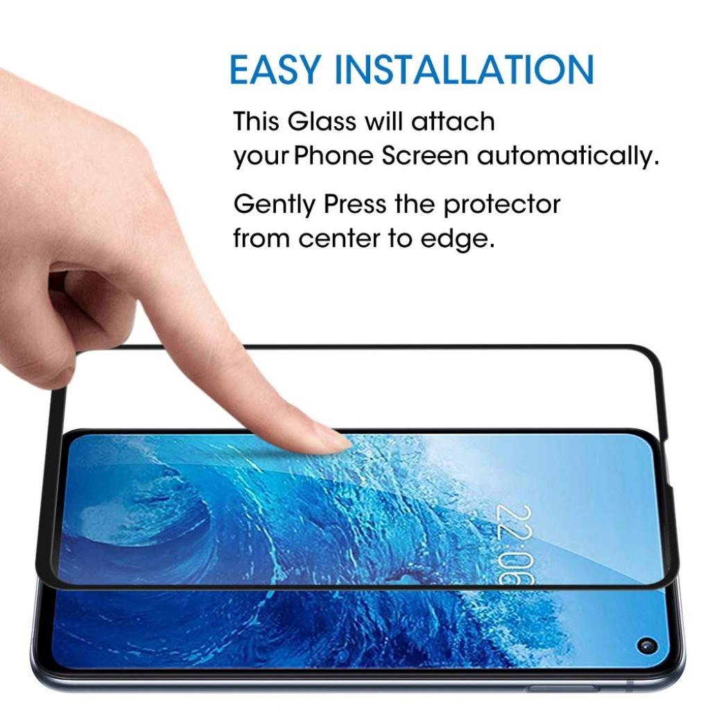 واقي شاشه زجاجي -استكر زجاج- جالكسي اس 10 إي Galaxy S10e ماركة اموفو Amovo وضوح عالي مقاوم التبقع - لون الحواف اسود - 2 حبتين