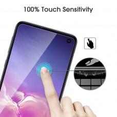 واقي شاشه زجاجي -استكر زجاج- جالكسي اس 10 إي Galaxy S10e ماركة أوموتون OMOTON وضوح عالي مقاوم التبقع - 3 حبات