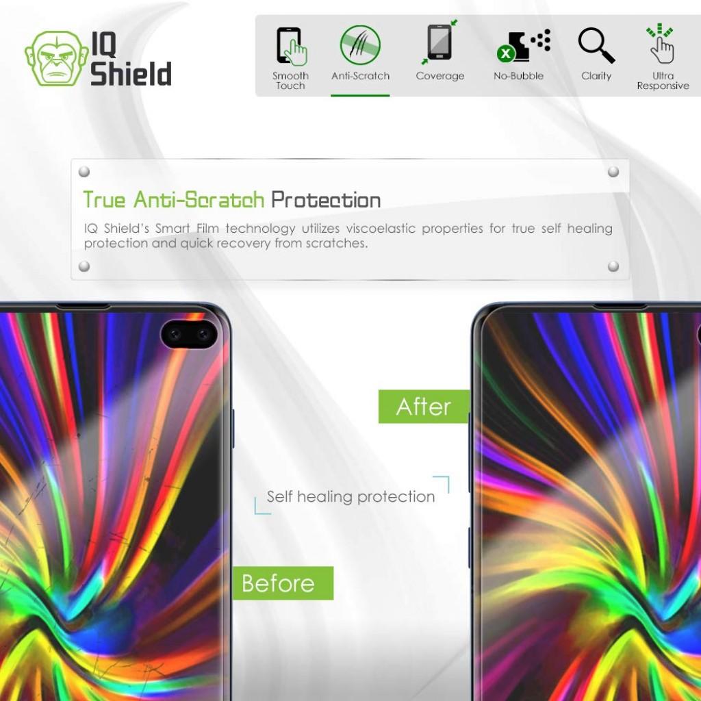واقي شاشه -استكر- جالكسي اس 10 بلس Galaxy S10 Plus ماركة آي كيو شيلد IQ Shield وضوح عالي مقاوم التبقع - 2 حبتين