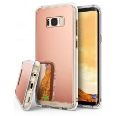 كفر جالكسي اس 8 Galaxy S8 ماركة رينجكي Ringke إطار مرن شفاف ومرايا صلب من الخلف - وردي مرايا