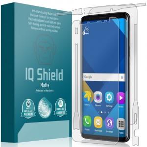 واقي شاشه -استكر- جالكسي اس 9 بلس Galaxy S9 plus ماركة آي كيو شيلد IQ Shield لكامل الجهاز وضوح عالي مقاوم التبقع