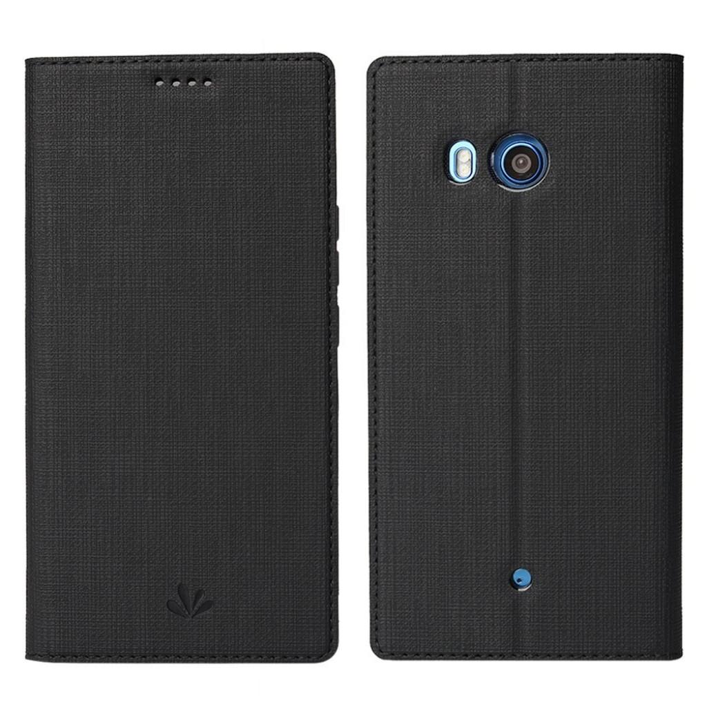 جراب اتش تي سي يو 11 HTC U11 ماركة فيلي ViLi محفظة فليب مع ستاند ومكان للبطاقات - اسود