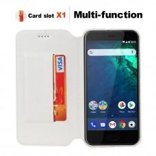 جراب اتش تي سي يو 11 بلس HTC U11 Plus ماركة فيلي ViLi محفظة فليب مع ستاند ومكان للبطاقات - ابيض