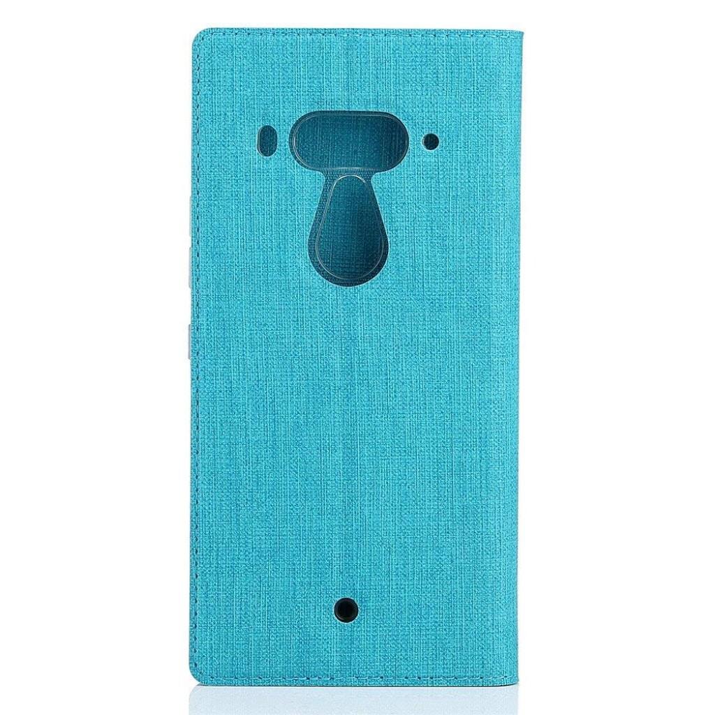 جراب اتش تي سي يو 12 بلس HTC U12 Plus محفظة فليب مع ستاند ومكان للبطاقات - ازرق
