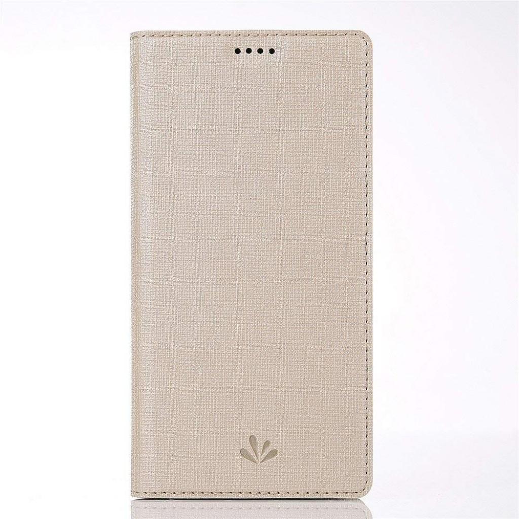 جراب اتش تي سي يو 12 بلس HTC U12 Plus محفظة فليب مع ستاند ومكان للبطاقات - ذهبي