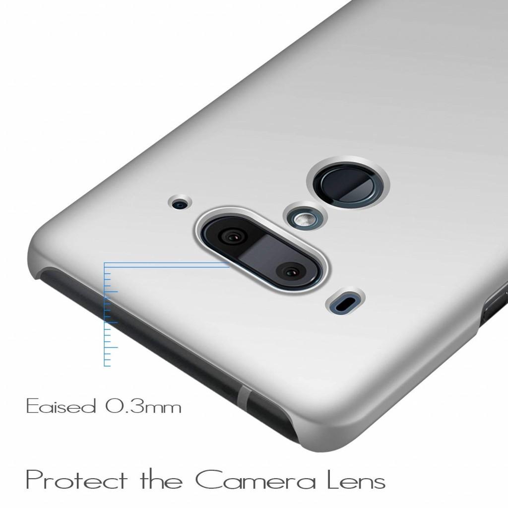 كفر اتش تي سي يو 12 بلس HTC U12 Plus ماركة انسير Anccer رفيع صلب بالكامل - فضي