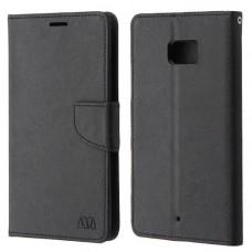 جراب اتش تي سي يو ألترا HTC U Ultra محفظة مع مكان للبطاقات وستاند - اسود