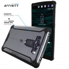 كفر ال جي في 10 LG V10 ماركة بوتيك Poetic صلب من الخلف وإطار مرن - اسود