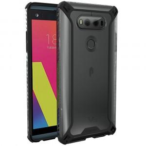 كفر ال جي في 20 LG V20 ماركة بوتيك Poetic صلب من الخلف وإطار مرن - اسود