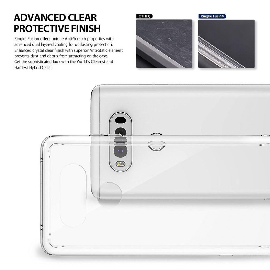 كفر ال جي في 20 LG V20 ماركة رينجكي Ringke صلب من الخلف وإطار مرن - شفاف