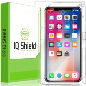 واقي شاشه -استكر- ايفون اكس / اكس اس iPhone X / XS ماركة آي كيو شيلد IQ Shield لكامل الجهاز وضوح عالي مقاوم التبقع
