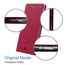 جراب إكسبيريا إكس زد 2 Xperia XZ2 ماركة فيلي ViLi محفظة فليب مع ستاند ومكان للبطاقات - احمر
