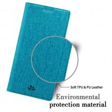 جراب إكسبيريا إكس زد 2 Xperia XZ2 ماركة فيلي ViLi محفظة فليب مع ستاند ومكان للبطاقات - ازرق