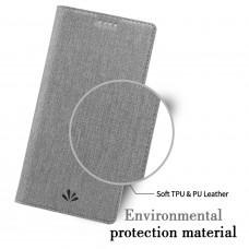 جراب إكسبيريا إكس زد 2 Xperia XZ2 ماركة فيلي ViLi محفظة فليب مع ستاند ومكان للبطاقات - رمادي